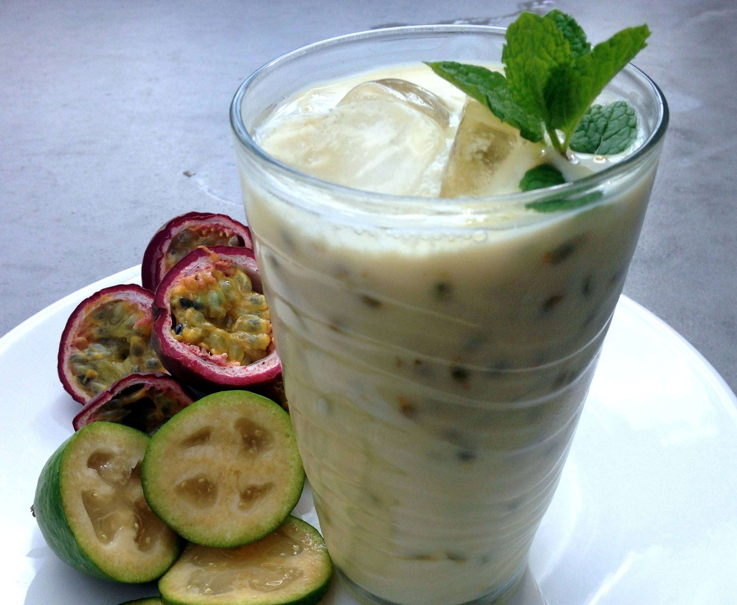 Feijoa and Passionfruit Smoothie Will Smith Dinner