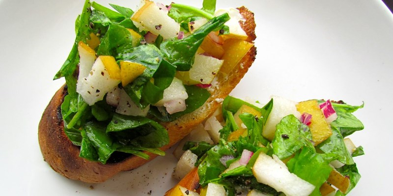 Nashi Pear and Rocket Bruschetta | Stay At Home Mum