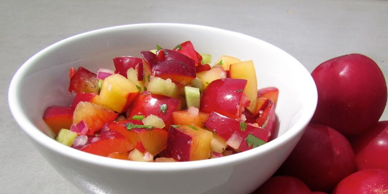 Spicy Plum Salsa