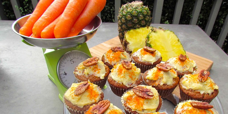 Fresh Pineapple and Carrot Cupcakes