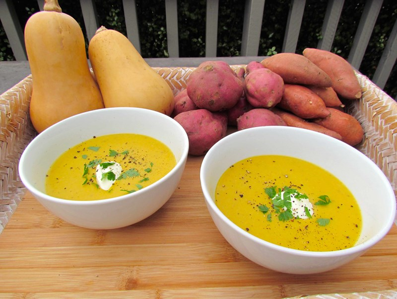 Spicy Kumara and Butternut Soup