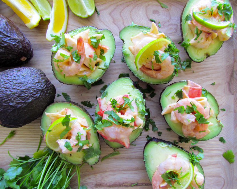 shrimp cocktail avocado