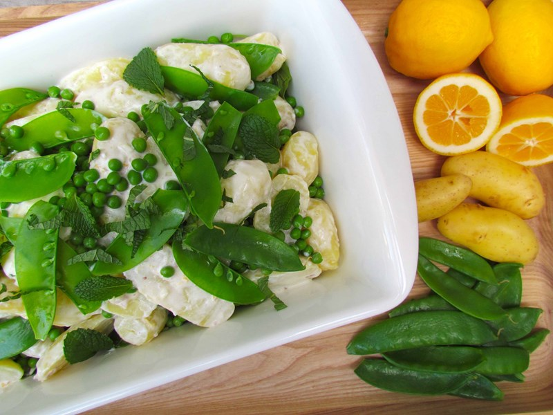 Potato Salad with Lemon and Mint Dressing