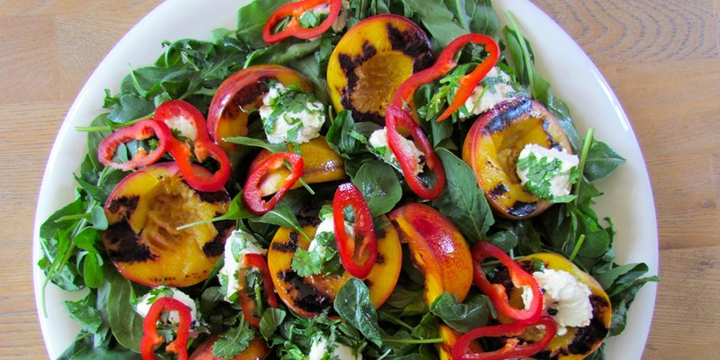 Nectarine and Herbed Goat's Cheese Salad