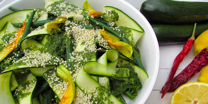 Courgette Salad with Zesty Mint Dressing