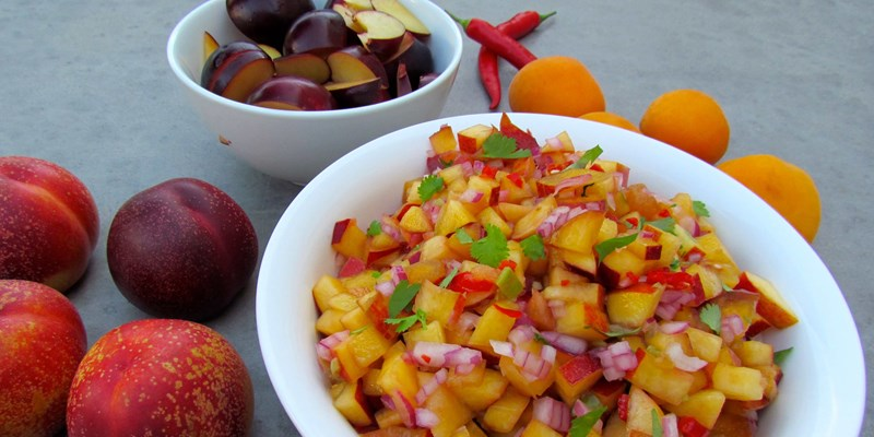 Nectarine and Plum Salsa