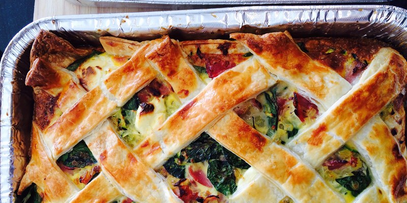 Bacon & Egg Pie with Vegetables