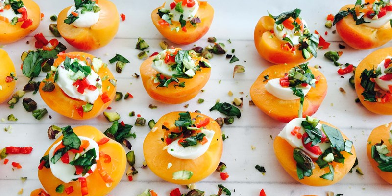 Apricots with Bocconcini