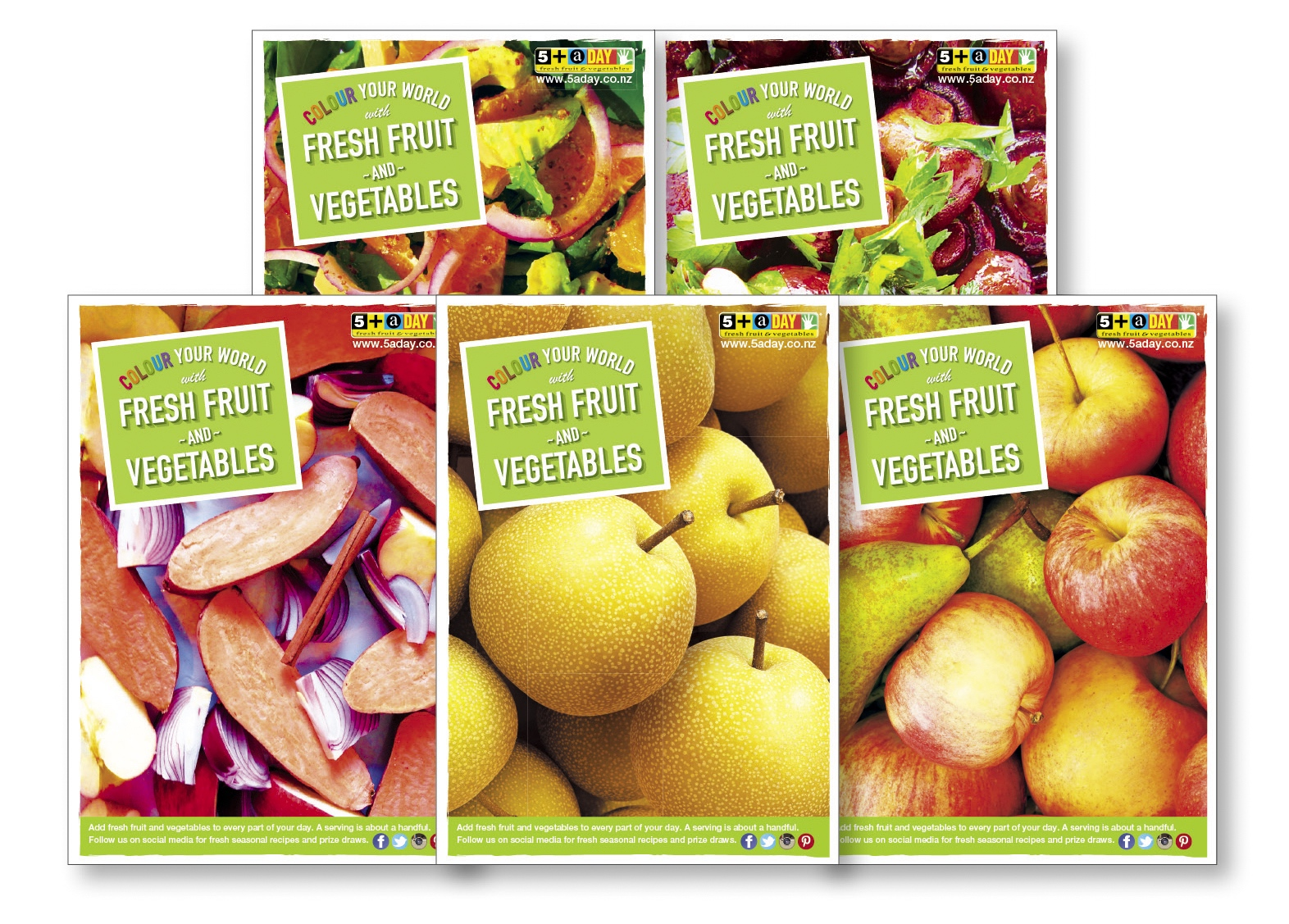Set of 5 Fruit & Vegetable Posters