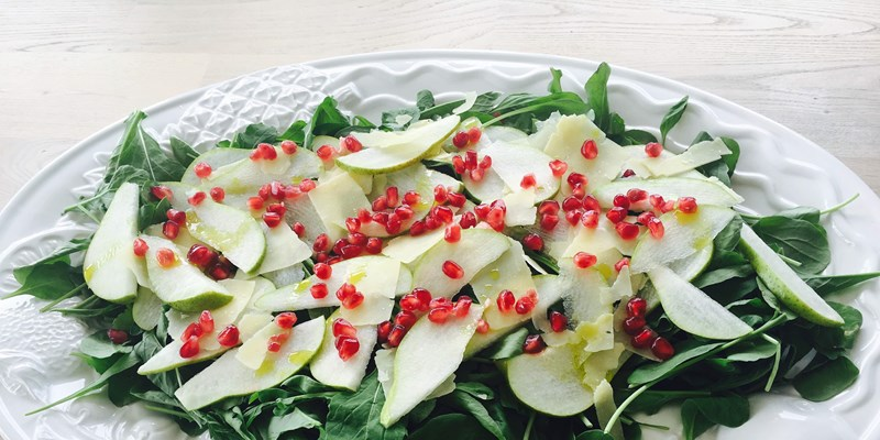 Pear, Parmesan & Pomegranate Salad