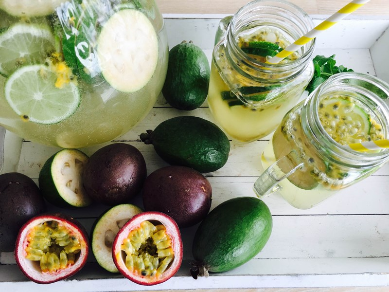 Passionfruit & Feijoa Infused Water
