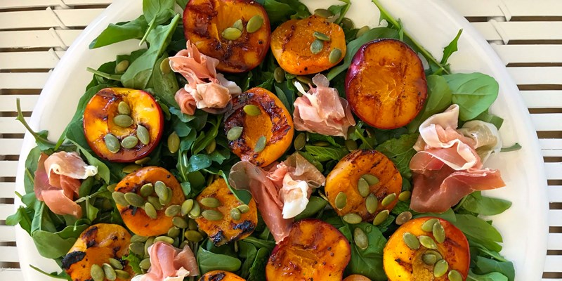 Grilled Nectarine and Apricot Salad