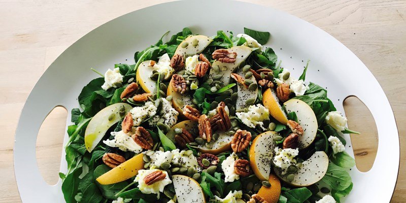 Autumn Salad with Nashi Pears and Pecans