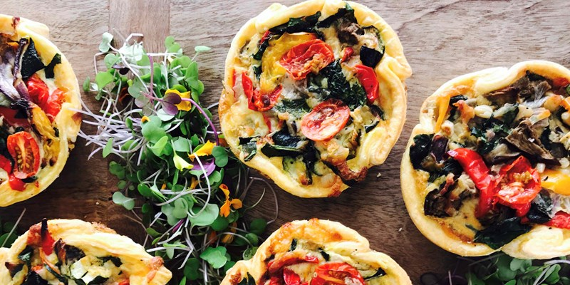Tomato and Roast Vegetable Quiche