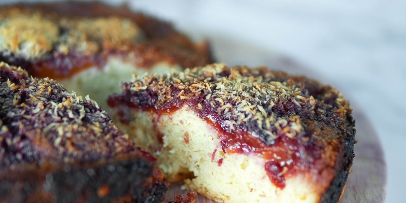 Tamarillo and Coconut Cake
