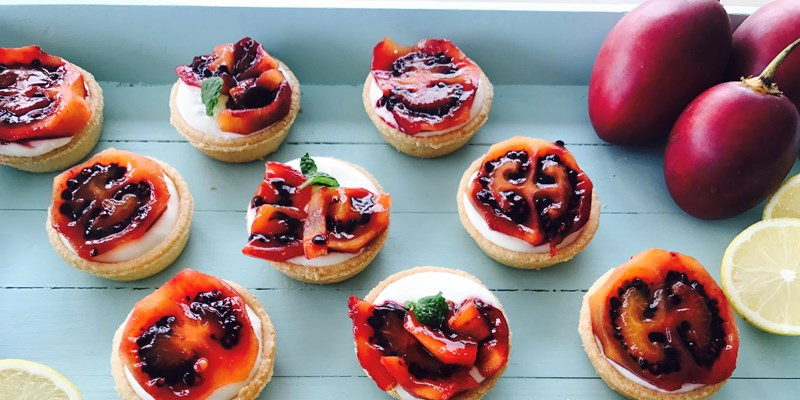 Tamarillo Tarts with Lemon & Mint