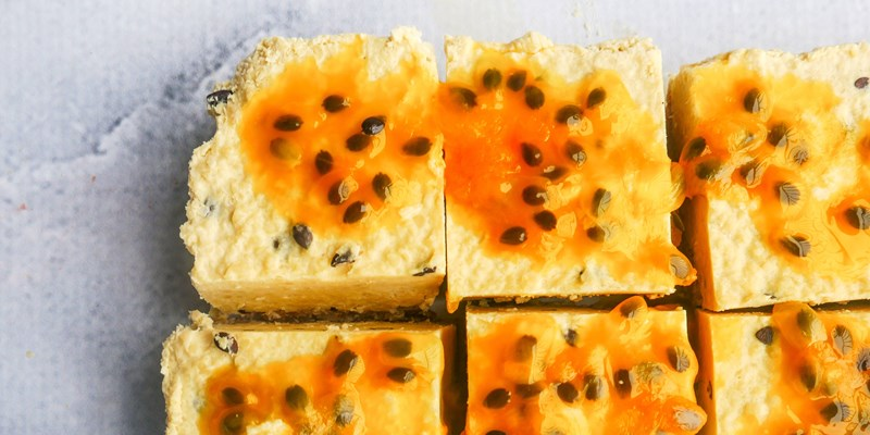 Passionfruit and Nut Slice