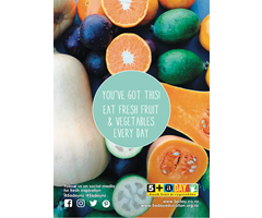 Poster A4 Eat Fresh Fruit and Veg Every Day