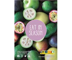 Poster A4 Eat in Season Feijoa and Passionfruit