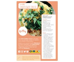 5+ A Day Recipe Card - Cauliflower Cheese