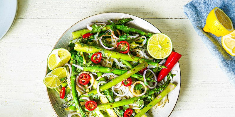 Thai Asparagus with Noodles