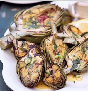 Artichokes with Tarragon Dressing