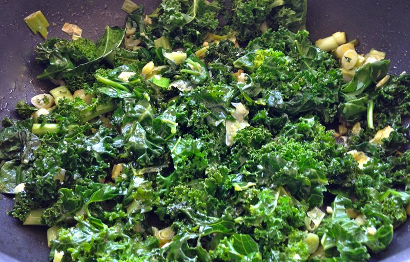 Kale and Leek Stir-Fry